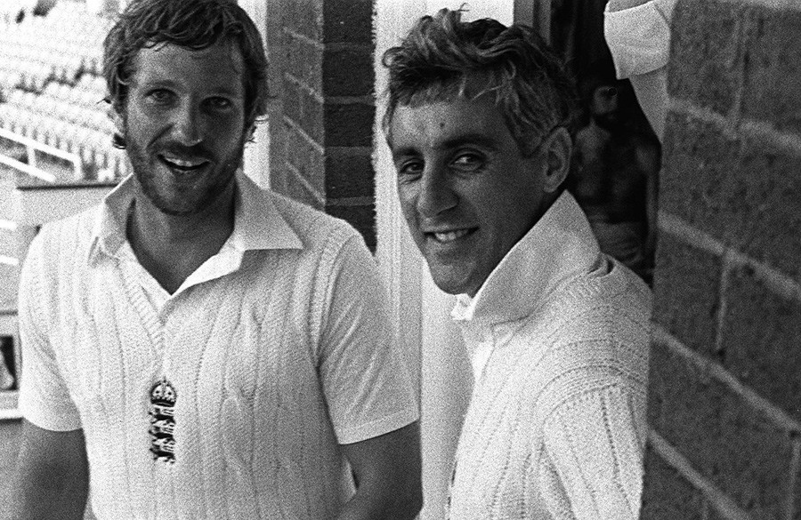 A picture of Ian Botham and Mike Brearly
